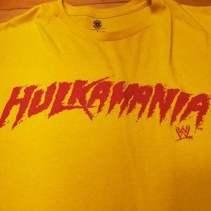 Hulkamania Tshirt Yellow Large